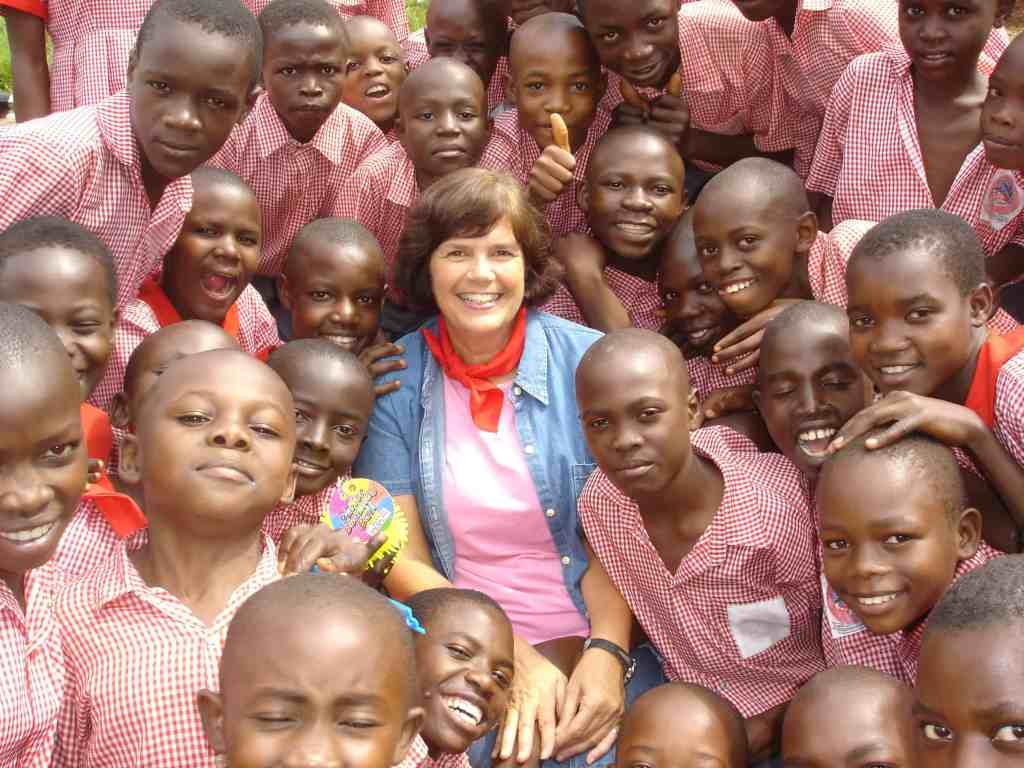 cynthia margeson with students