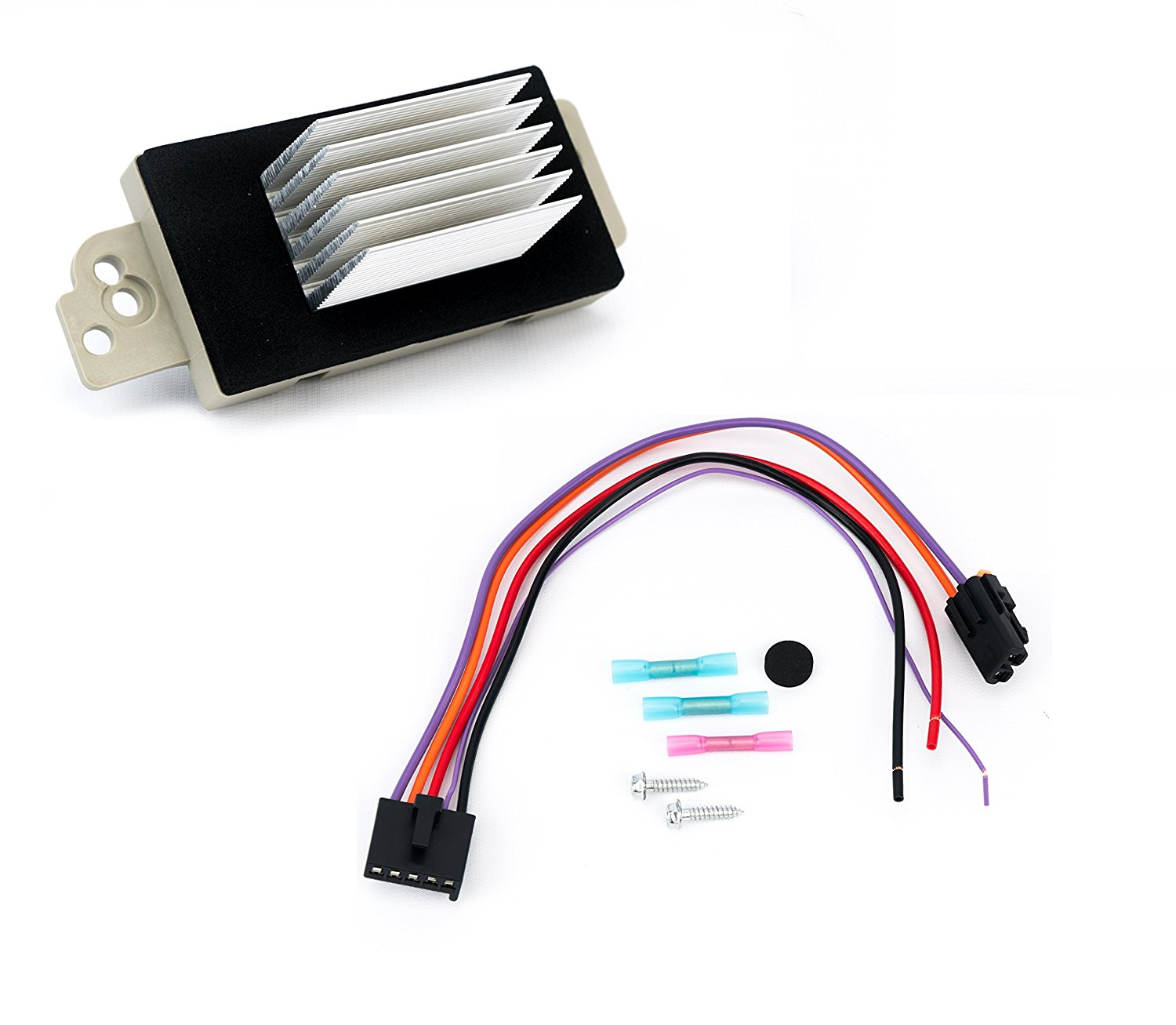hight resolution of aa ignition productschevy and gmc blower motor resistor complete kit with harness replaces 15 81773 image