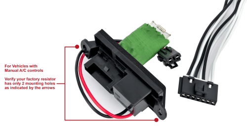 small resolution of hvac blower motor fan resistor kit with harness replaces 22807122 image