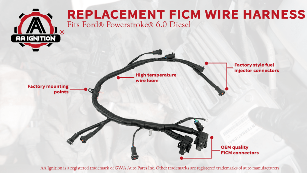 medium resolution of the term ford powerstroke and other vehicle models are used only to identify the vehicles this wire harness fits