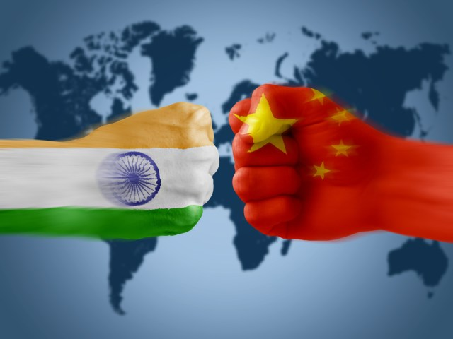 china vs india war
