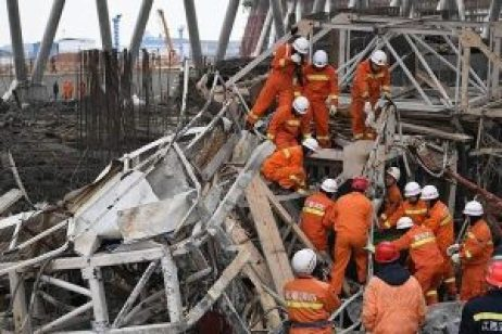 40 people dead due to china tower collapsed