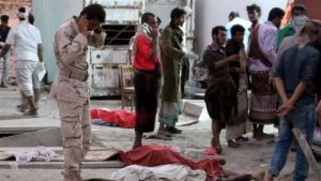 52 soldiers killed and 63 soldiers wounded in a suicide bomb blast