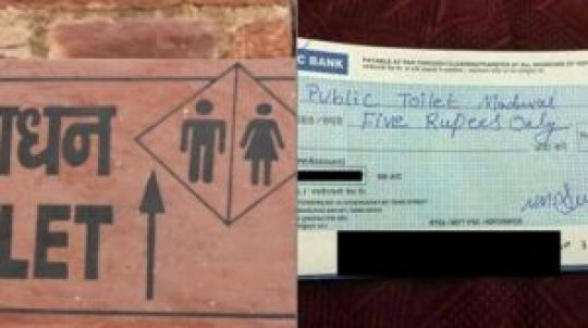 madurai man makes payment using cheque at public toilet