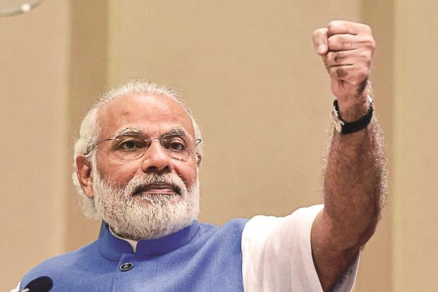 pm narendra modi speaks against congress, bsp and sp in lucknow
