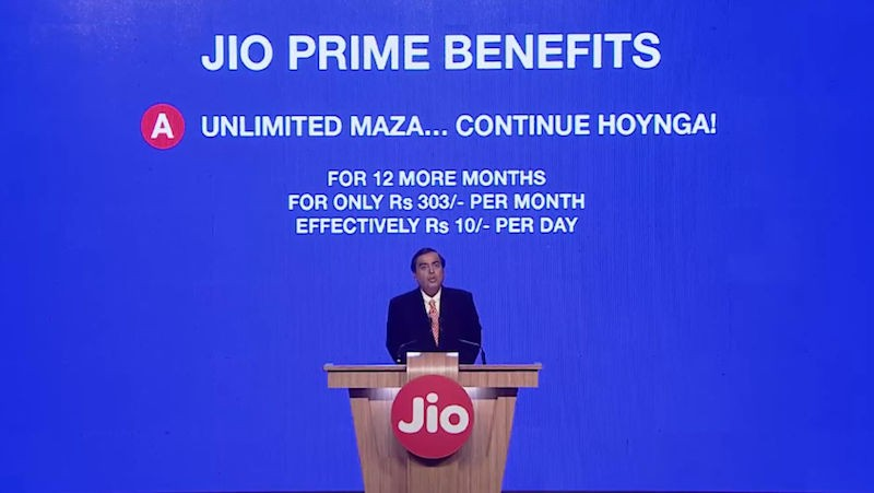 reliance jio prime subscription will give unlimited data and voice calling at rs 10 per day