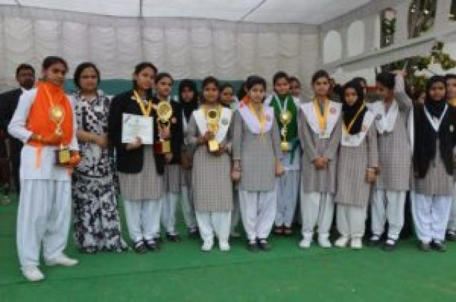 students of amu girls school aligarh win various medals during athletic meet