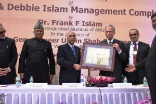 inaugration of amu's frank and debbie islam management complex
