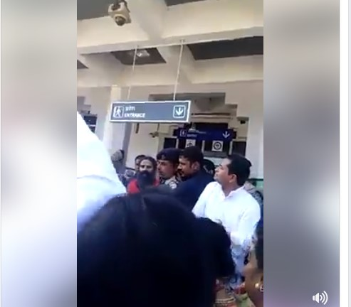 protest against baba ramdev in jodhpur