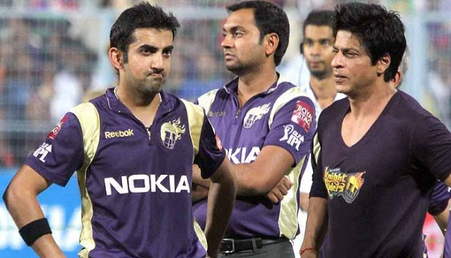 srk give shock to gautam gambhir in ipl आईपीएल