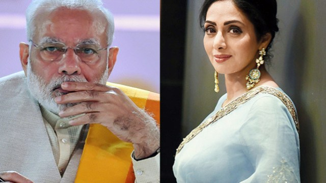 modi statement regarding sridevi श्री देवी death