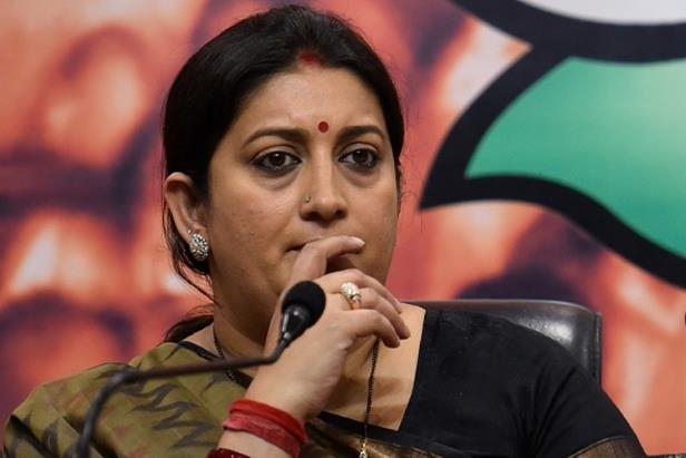 Image result for smriti irani sad