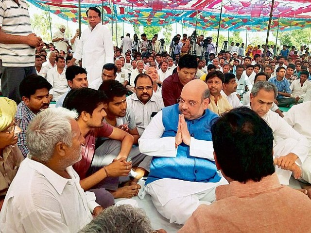 Image result for farmer in amit shah rally