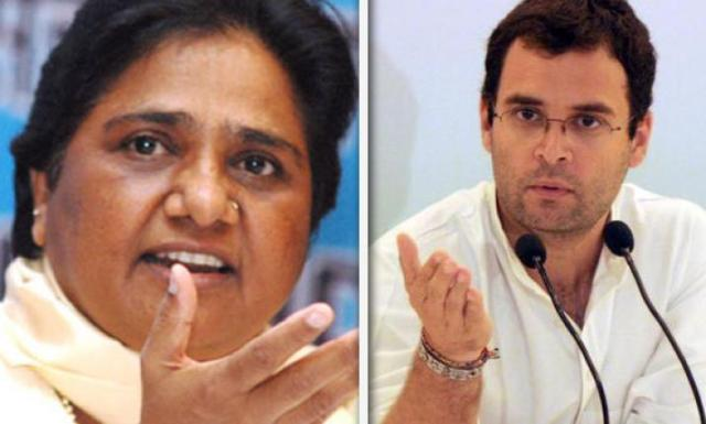Image result for mayawati and rahul gandhi