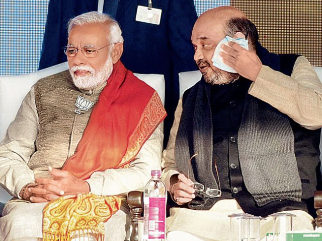 Image result for narendra modi and amit shah sad