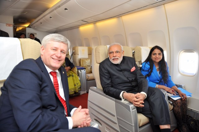 Image result for narendra modi with gurdeen kaur in plane