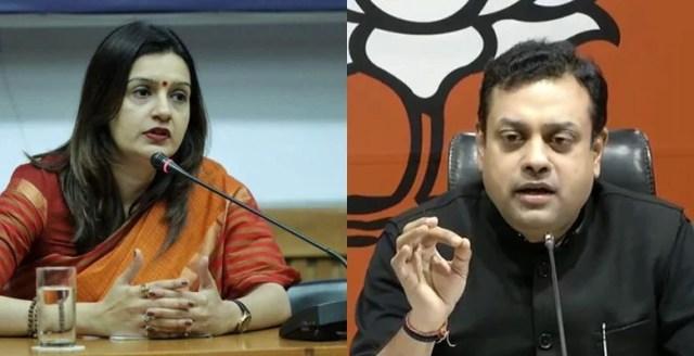 priyanka chaturvedi प्रियंका चतुर्वेदी target sambit patra during live debate