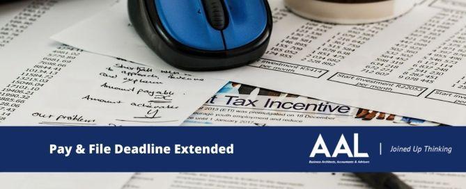 pay & file deadline extended