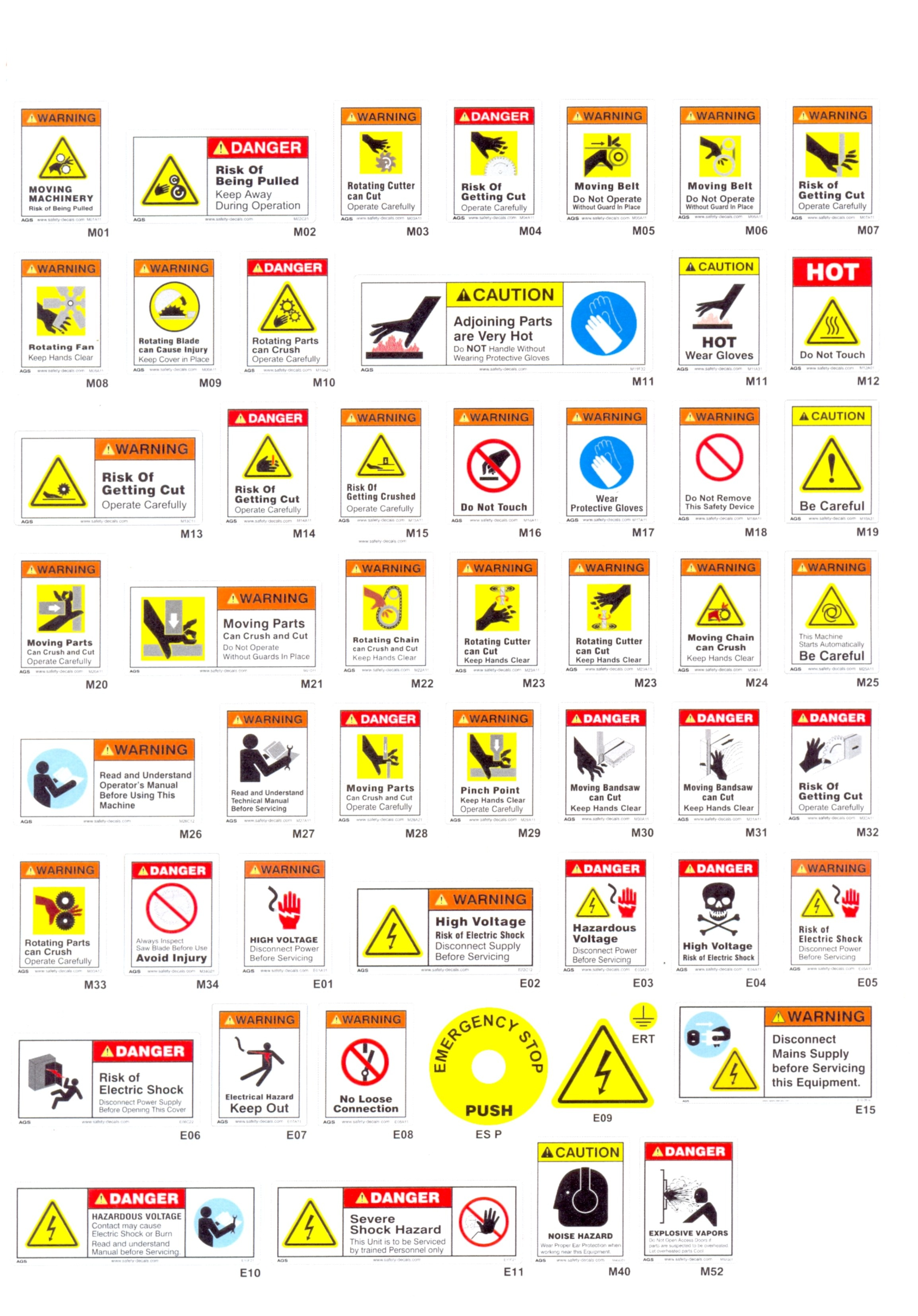 Printable Warning Signs Worksheet