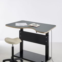 Office Chair For Standing Desk Maroon Aalborg Sit-stand Adjustable - Classrooms And Workplaces
