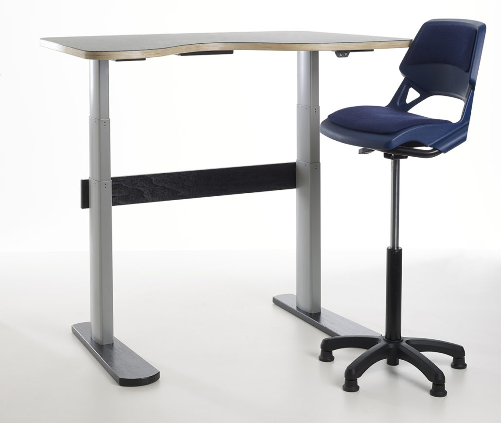 Aalborg SitStand Adjustable Desk  for classrooms and