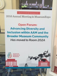 Sign announcing the Open Forum on Diversity and Inclusion