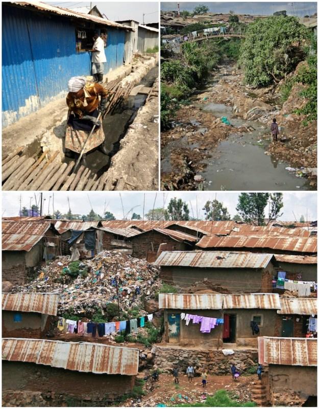 Images of the Mukuru and Kibera settlements