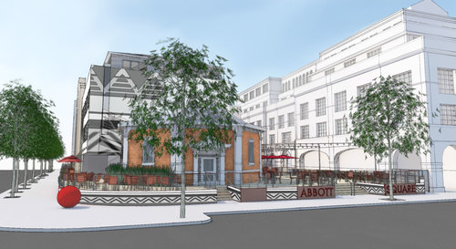 Rendering of what Abbott Square will look like when complete.