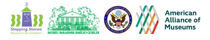 Logos for the AAM, State Department , Stepping Stones Museum, and Museu Paraense Emilio Goeldi