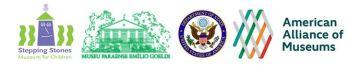 Logos for the AAM, State Department , Stepping Stones Museum, and Museu Paraense Emilio Goeldi