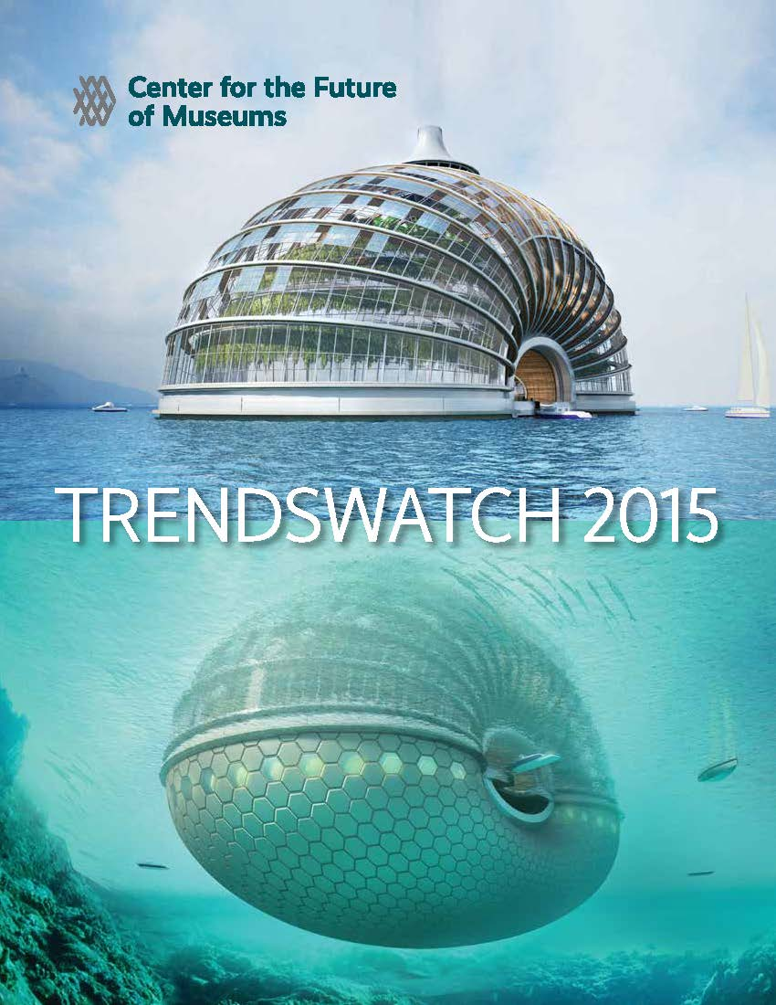 Cover image of TrendsWatch 2015 with a nautilus shaped structure shown above and below water.