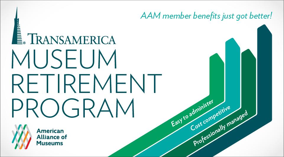 Promotional graphic for Transamerica Museum Retirement Program