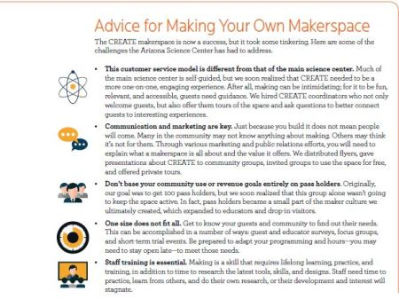 A graphic list of how to make your own makerspace.