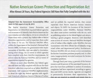 Excerpted newpaper copy of the NAGPRA.