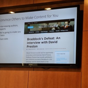 """View of a screen with """"Convince Others to Make Content for You"""" displayed on it."""