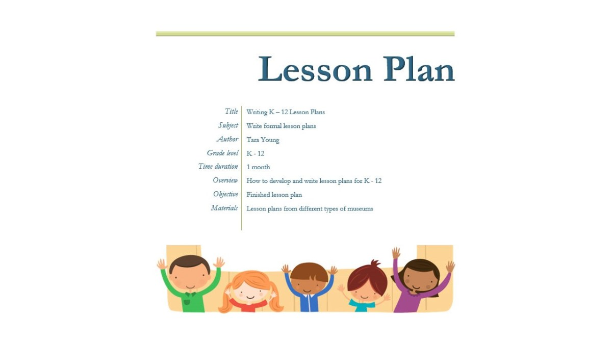 Writing K-10 Lesson Plans for Museums – American Alliance of Museums