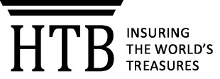 "Logo reading ""HTB: Insuring the world's treasures."""