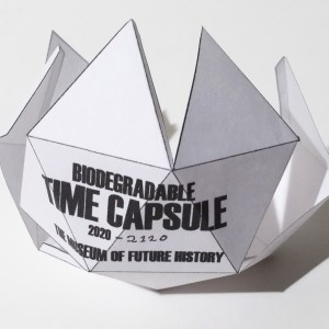 Biodegradable Time Capsule, 2020. Photo: Courtesy of The Museum of Future History
