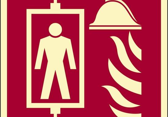 (ascensore antincendio) luminescente