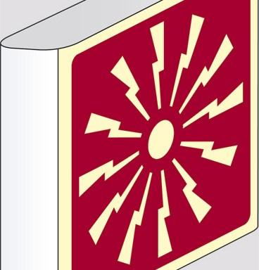 (allarme antincendio) a bandiera luminescente