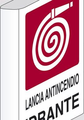 LANCIA ANTINCENDIO IDRANTE  a bandiera