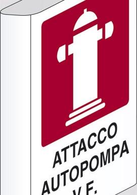 ATTACCO AUTOPOMPA V.F.  a bandiera