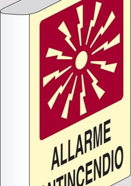 ALLARME ANTINCENDIO a bandiera luminescente