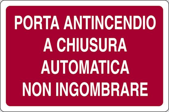PORTA ANTINCENDIO A CHIUSURA AUTOMATICA NON INGOMBRARE