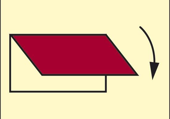 (sistema di chiusura per ventilazione esterna in ingresso o in uscita) luminescente