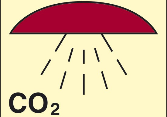 CO2 (spazio protetto da CO2) luminescente