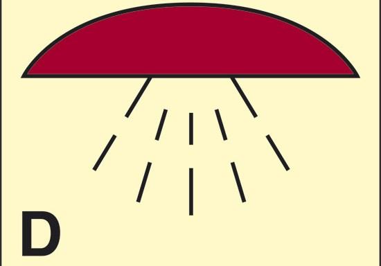 D (spazio protetto da impianto di spegnimento) luminescente