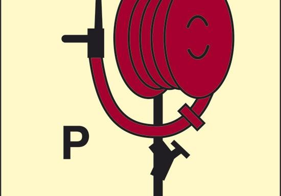 P (lancia a polvere) luminescente