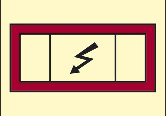 (quadro elettrico d'emergenza) luminescente