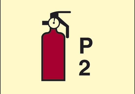 P 2 (estintore a polvere) luminescente